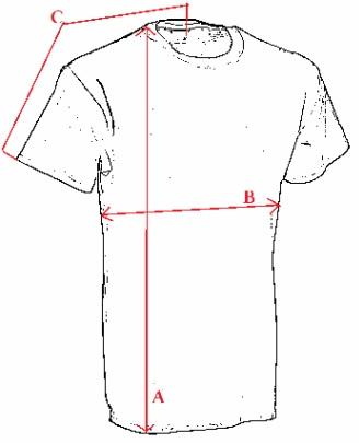 Gildan póló méretek